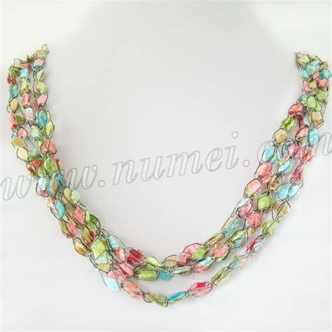 Handmade Ribbon - handmade ribbon necklace et1280