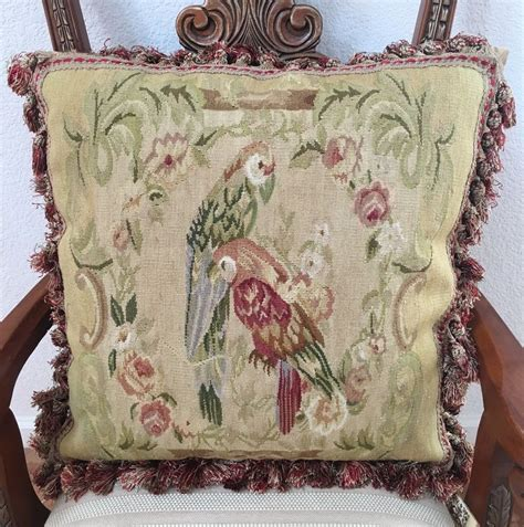 Pillows On Ebay by Parrots Aubusson 100 Wool Handmade Needlepoint Decorative