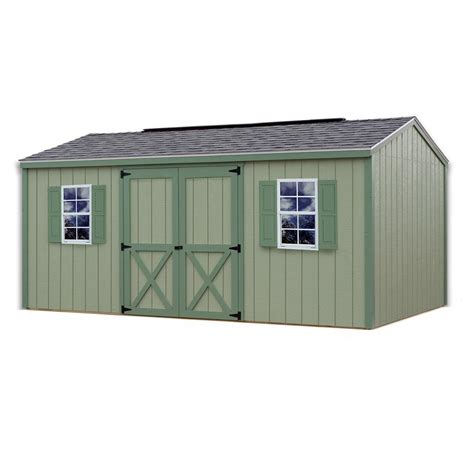 10 X 16 Storage Shed by Best Barns Cypress 16 Ft X 10 Ft Wood Storage Shed Kit Cypress 1610 The Home Depot