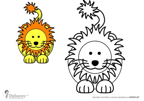 imagenes de leones infantiles para colorear leon para colorear educacion infantil