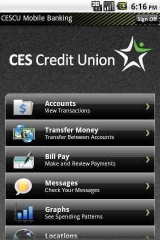 ces credit union access mobile android apps on play