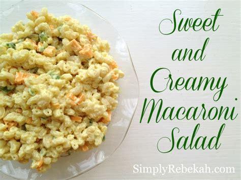sweet n creamy macaroni salad picture the recipe creamy macaroni salad