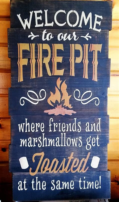 pit signs amazing wood metal pit signs for your deck or patio