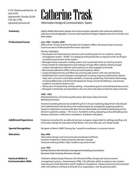 Communication Resume by Marketing Communication Specialist Resume Resumes