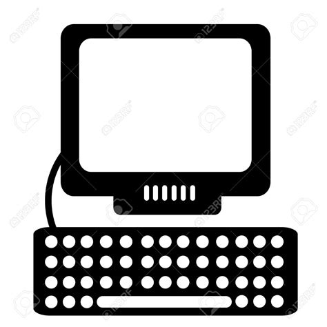 computer clipart computer clipart silhouette pencil and in color computer