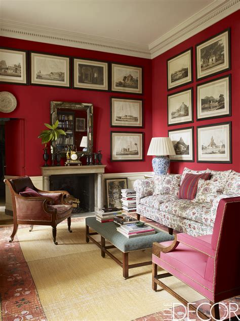 rooms  red walls red bedroom  living room ideas