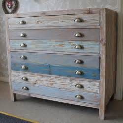 4 Drawer Wooden Blue Chest Of Drawers Melody Maison 174