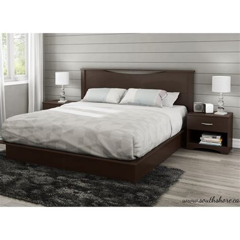 South Shore Bed Frames South Shore Step One King Platform Bed With Drawers In Chocolate 3159237