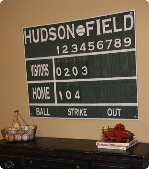 this diy house inspiration for vintage baseball and