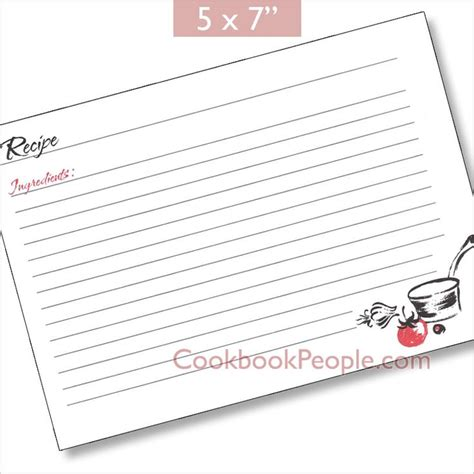 recipe cards 5x7 template 1000 images about recipe box cards and dividers on