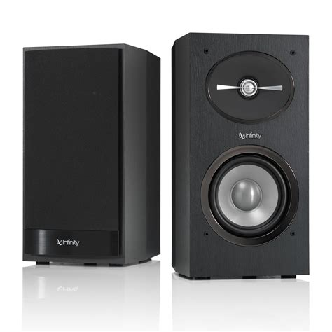infinity reference r152 2 way bookshelf speakers r152bk b h