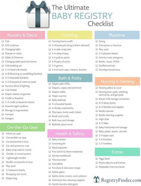 ultimate baby registry checklist baby shower planning