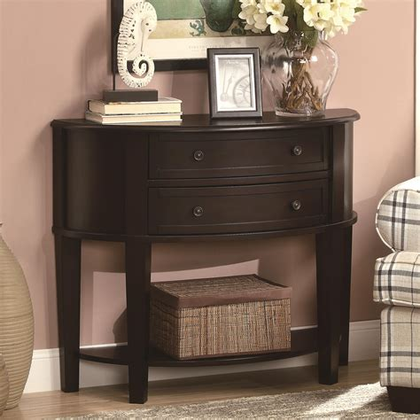 entry accent tables coaster accent tables demilune entry sofa table dunk
