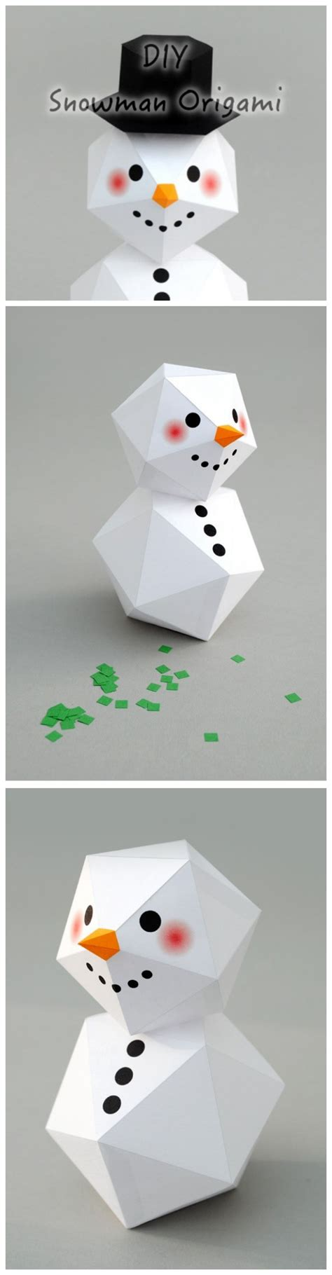 origami snowman how to make snowman origami diy step by step tutorial