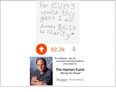 25 Best Memes About Human Fund Human Fund Memes A Donation Has Been Made In Your Name Template
