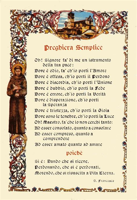 san poems preghiera semplice di san francesco d assisi quotes and