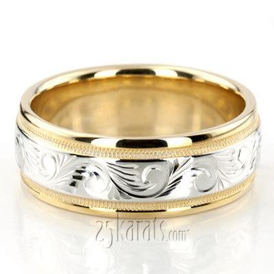 fancy designer wedding bands engraved wedding bands for