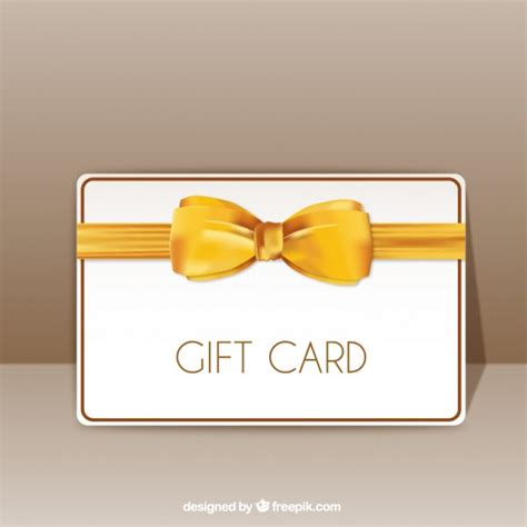 Ribbon Gift Cards - gift card with yellow ribbon vector free download
