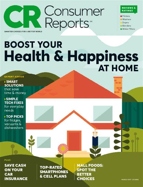 consumer reports magazine home product reviews