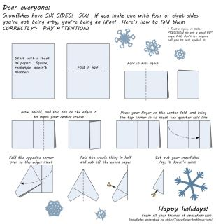 How To Make A 6 Pointed Paper Snowflake - how to fold a six pointed snowflake important