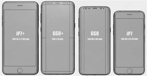 Check out Galaxy S8 and S8  size comparison with Galaxy S7