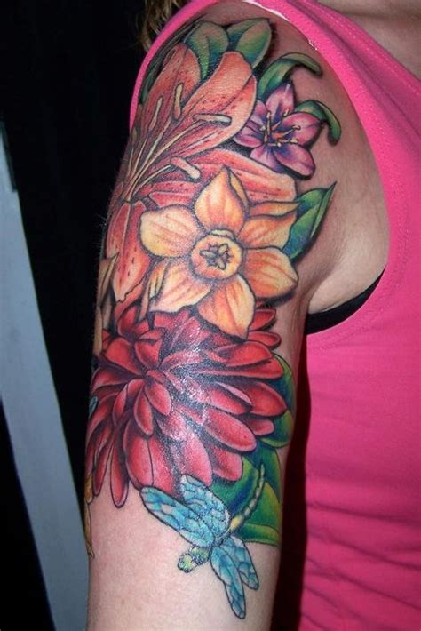 flower collage tattoo designs daffodil tattoos designs and meaning flowertattooideas
