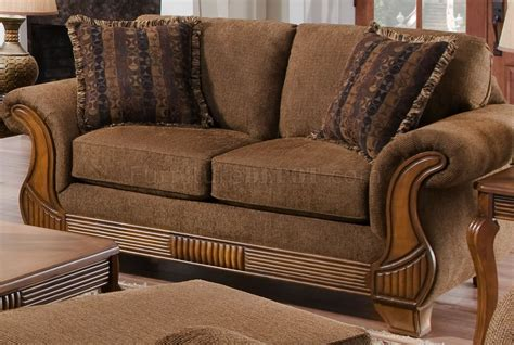Traditional Fabric Sofas by Chocolate Fabric Traditional Sofa Loveseat Set W Throw