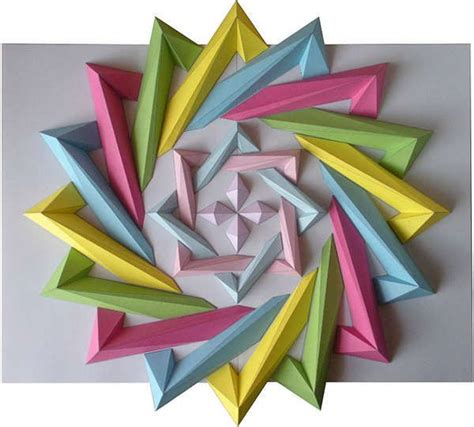 Movable Origami - moving origami mosaics