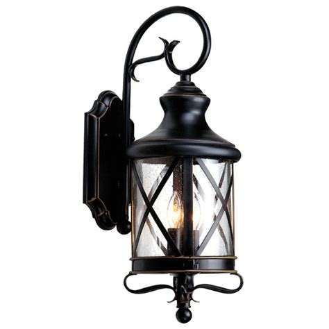 Outdoor Lighting Fixtures Lowes Allen Roth Rubbed Bronze Outdoor Wall Light From Lowes Lighting Outdoor