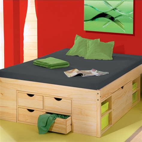 space saving double bed rollo solid pine continental double storage bed from