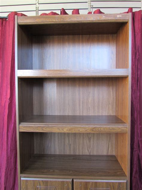 Bookcase With Closed Storage Lot Detail Sleek Bookcase Cabinet With 2 Shelves 2