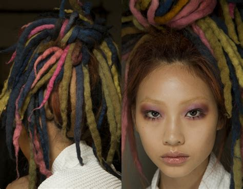 hair styles on wool nyfw marc jacobs dreads hairstyles 2017 spring