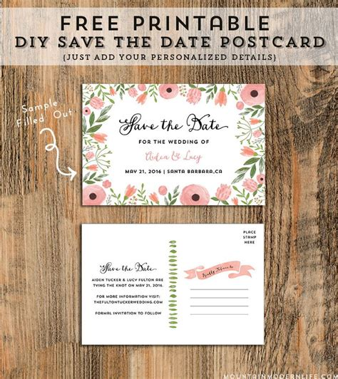 free save the date cards templates free printable save the date templates you ll