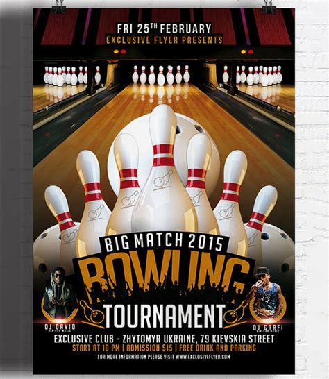 24 Outstanding Bowling Invitation Templates Designs Psd Ai Free Premium Templates Bowling Event Flyer Template