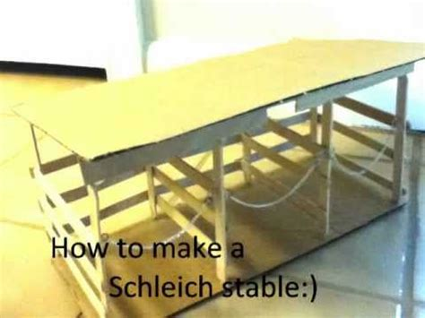 schleich stable youtube paard knutselen