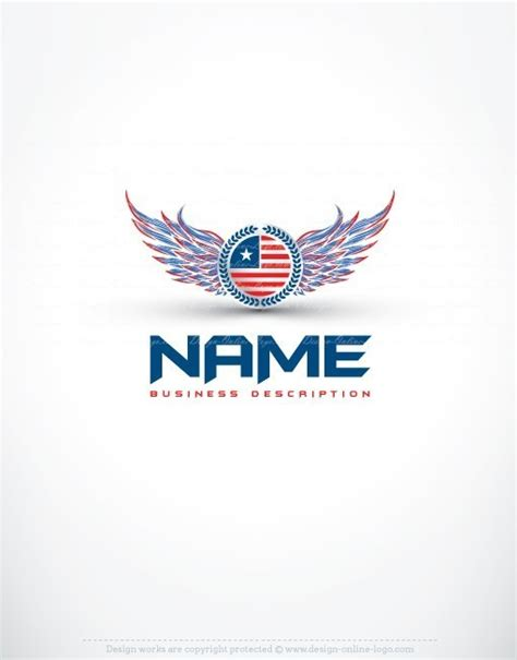 free logo design usa exclusive design usa america wings logo free business card