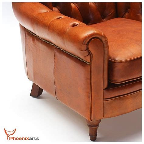 vintage leather armchair ebay vintage real leather chesterfield armchair wing chair club
