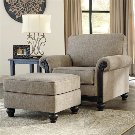 ashley furniture chair and ottoman signature design by ashley blackwood transitional chair