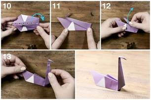 How Do You Make A Swan Out Of Paper - easy origami swan tutorial