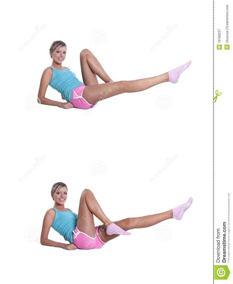 doing exercises for abdominal press stock image image 19180237