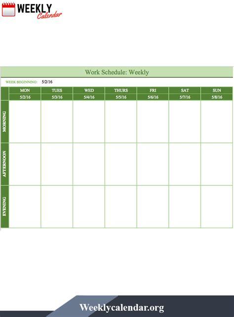 blank printable weekly calendar  template   weekly calendar