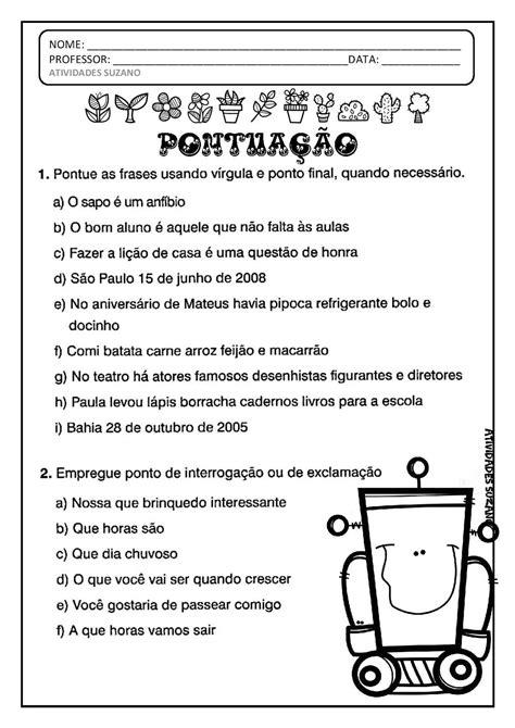 Pin do(a) Mara Pereira em 4 ano | Sinais de pontuação