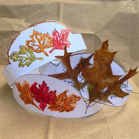 printable leaf crown printable autumn crown fun family crafts