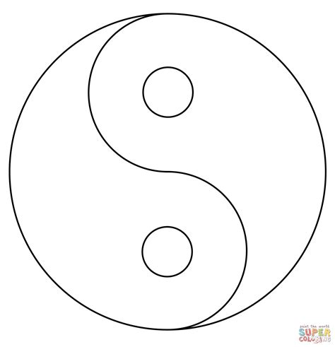Printable Coloring Pages Yin Yang | yin yang coloring page free printable coloring pages