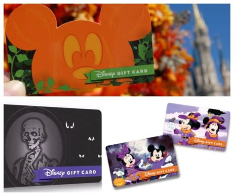 Fall Gift Cards - disney news new disney gift card fall designs