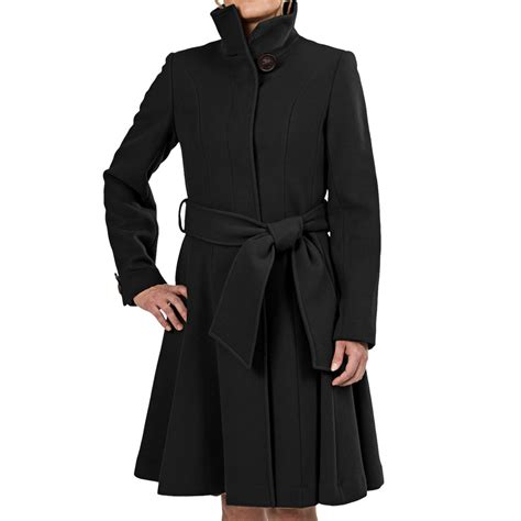 ladies wool swing coat george simonton belted swing coat for women 7673k save 52