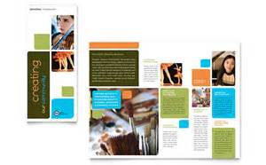 Education Brochure Templates arts council education brochure template design