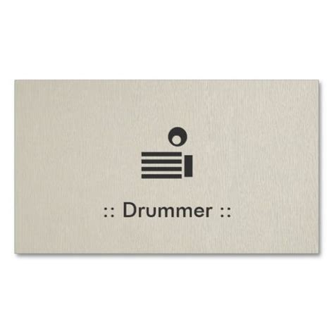 Drummer Business Card Templates by Drummers Simple And Professional Business Cards On