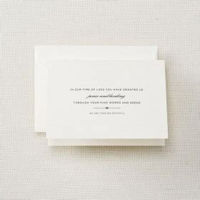 funeral acknowledgement cards template crane stationery silver lustre lined embassy envelope