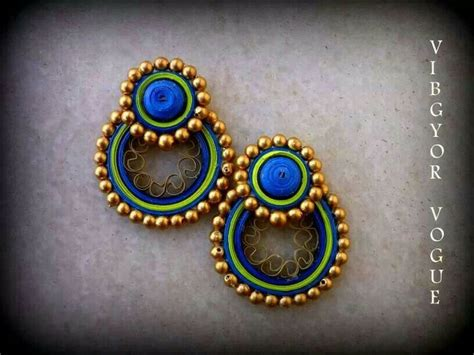 How To Make Paper Earrings Jhumkas - quilled earrings by shruti baubles earrings